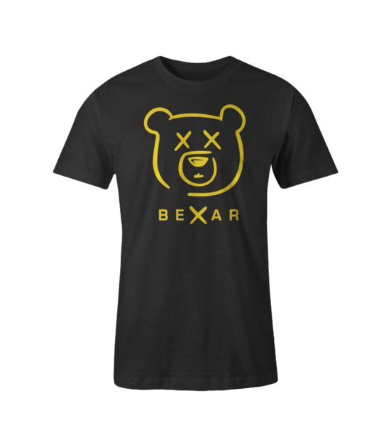 bexar signature mens black tee